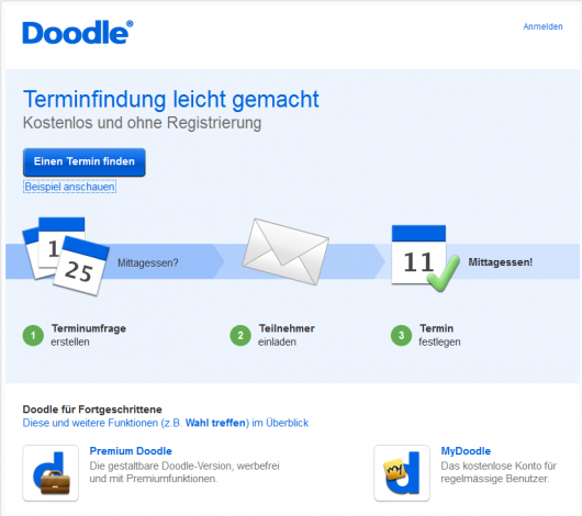 Meetings planen mit Doodle – Start